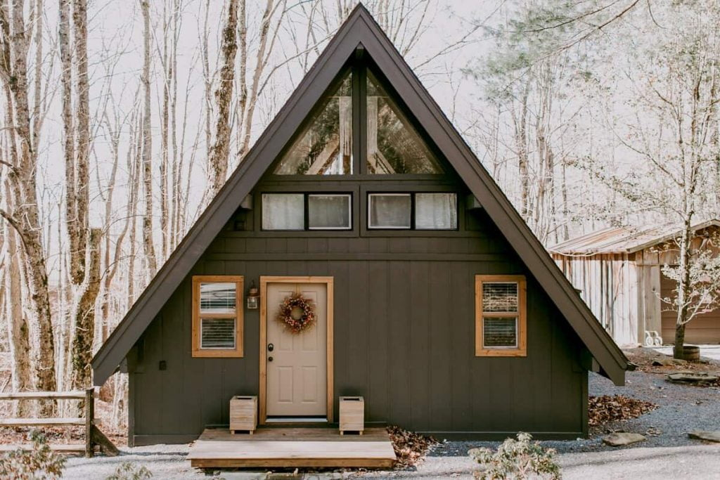 Best Airbnbs in North Carolina Storybook A-Frame Cabin In The Woods