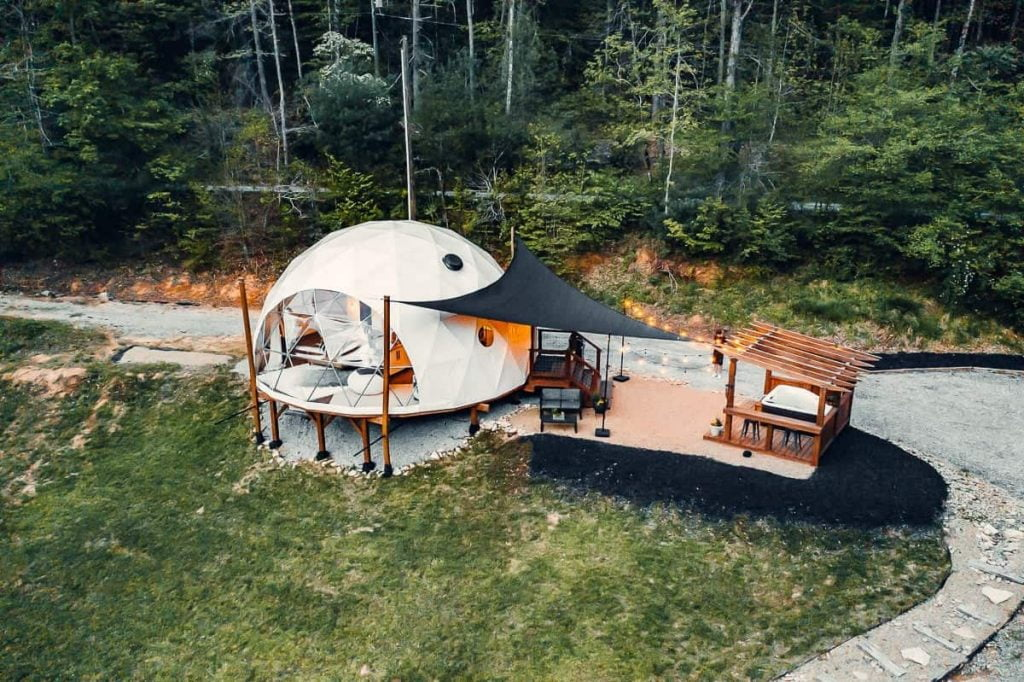 Unique Airbnb in North Carolina Luxury Glamping Dome