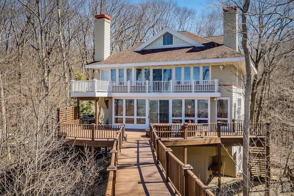 Vrbo in Michigan Lake Michigan Beachfront Home