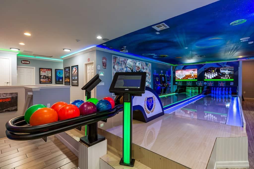 Mansion with Bowling Virtual Arcade Best VRBO Orlando