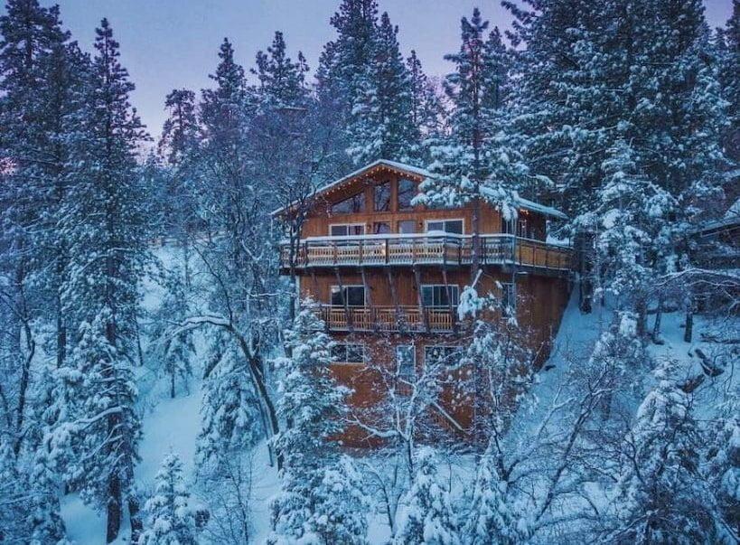70s Hillside Cabin big bear views airbnb