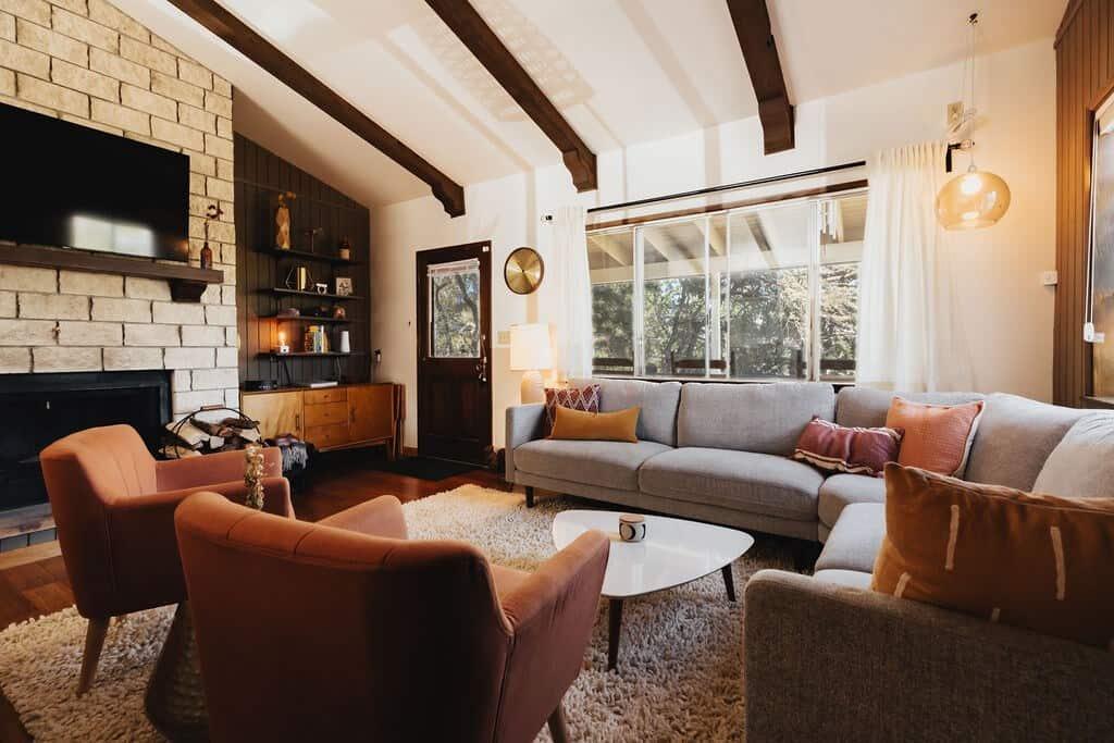 Moonridge cottage retro big bear airbnb