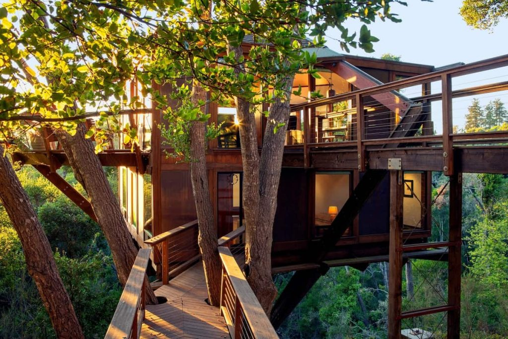 Unique Airbnbs in Northern California Aptos Treehouse